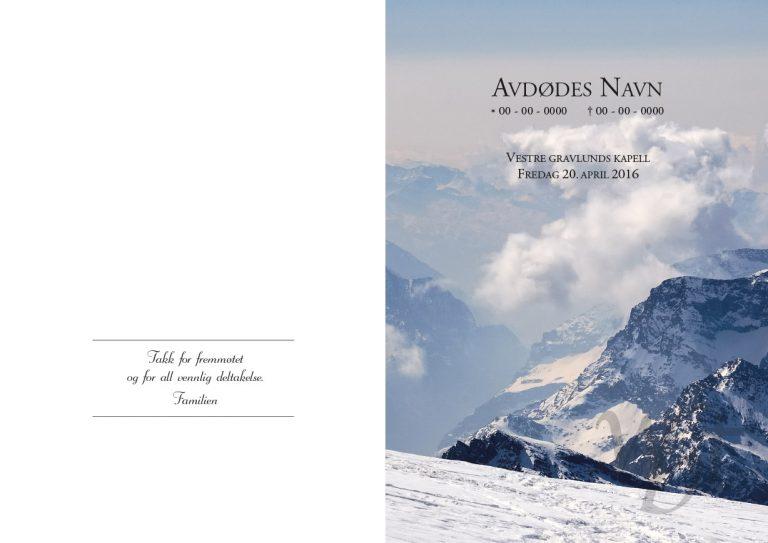 Salmehefte 843 Vinterfjell