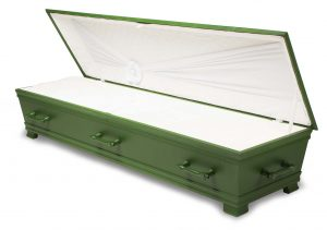 kiste begravelse kantate hardangergrønn innside