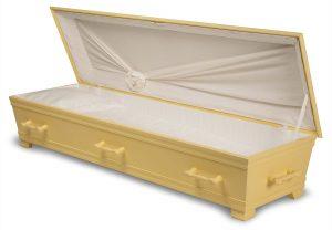 kiste begravelse kantate slottsgul innside