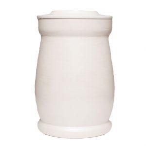 urne hvit silkematt